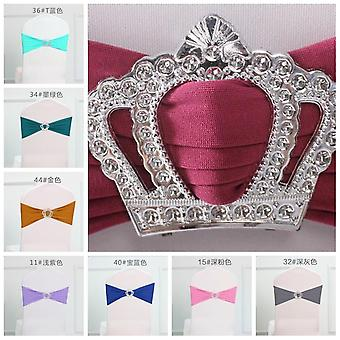 Royal Crown Buckles Lycra Bow Tie Chair Sash For Wedding Chairs Decoration