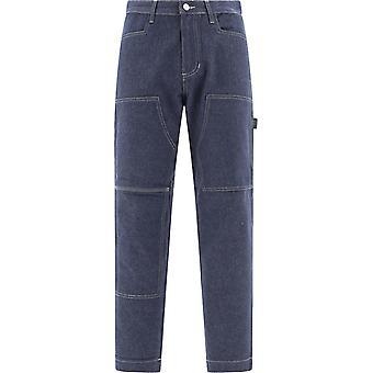 Mmw X Stussy Szupa0056fa01 Pantalon en coton bleu