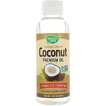 Nature-apos;s Way, Huile de noix de coco liquide Premium, 10 fl oz (300 ml)