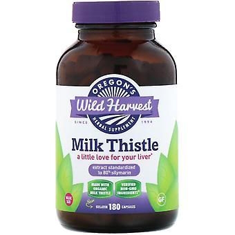 Oregon's Wild Harvest, Milk Thistle, 180 Capsules