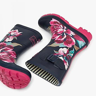 Joules Molly Welly Damer Gummi Mid Höjd Wellies Navy All Over Floral