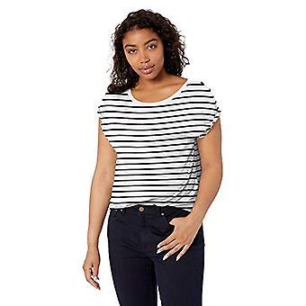 Brand - Daily Ritual Women's Jersey Short-Sleeve Boat Neck Shirt, Whit...