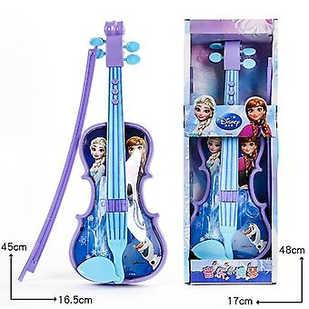 Disney Frozen Princess Violin Musical Instrument Genuine Violin Guitar Sand Hammer Education Children Musical Instruments Toy
