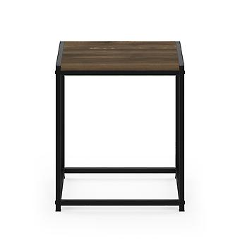 Furinno Camnus Modern Living End Table, Columbia Walnut