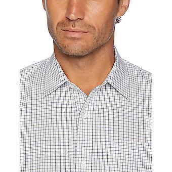 Essentials Men's Slim-Fit التجاعيد المقاومة للتجاعيد طويلة الأكمام قميص فستان, B...