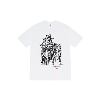 Supreme Yohji Yamamoto Krabbel Portret Tee White - Kleding
