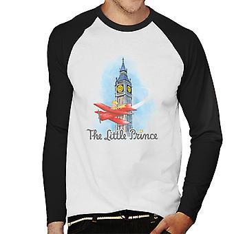 The Little Prince Big Ben Plane Men's Baseball Long Sleeved T-Shirt