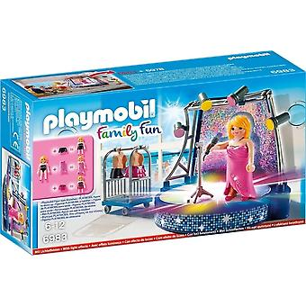Playmobil Familj Fun Singer och scenen med LED-ljuseffekter