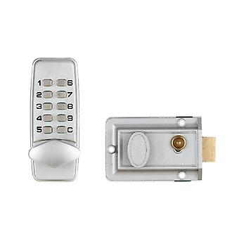 Waterproof Mechanical Digital Door Lock Push Button Keypad Keyless Code Combination Lock Set