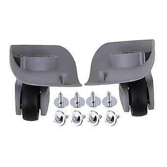 2 x Grey 91x107x49mm DIY Wheels Luggage Accessories Left & Right