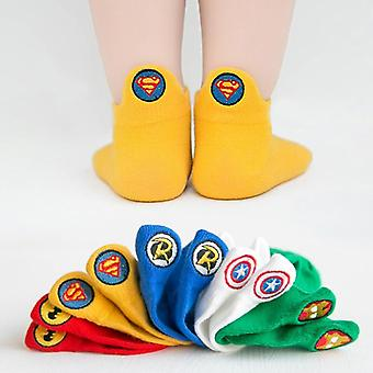 Kids Socks Funny Teenagers Marvel Cotton Boys Boat Shaped Girl Super Hero