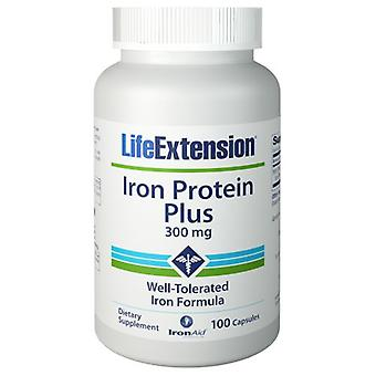 Life Extension Iron Protein Plus, 300 mg, 100 Vcaps