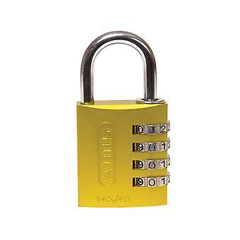 ABUS 145/40 40mm Aluminiowa kłódka kombinacjowa Żółty 49535 ABU14540YEL