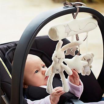 Cute Rabbit Star Music Hanging Bed, Slaapkamer Decor Seat Toy Kinderwagen voor pasgeborenen