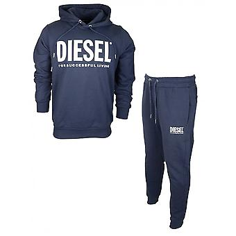 Diesel Cotton Overhead Navy Tracksuit