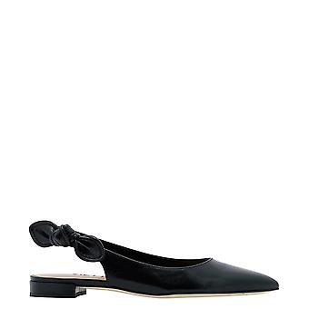Guglielmo Rotta 4118nnappanero Women's Black Leather Flats