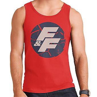 Nopea ja raivoisa särkynyt logo Men's Vest