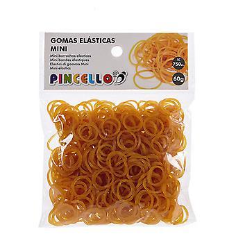 Gummi Elastikk Mini Gul