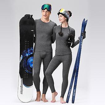 Ensemble de sous-vêtements thermiques hommes-femmes. Winter Quick-drying Warm Tights Fitness