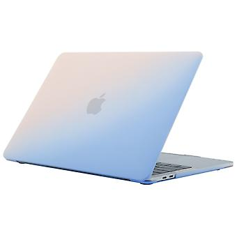 Cream Style Laptop Plastic Protective Case for MacBook Air 13.3 inch A1932 (2018)(Pink Blue)