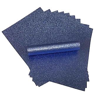 A4 mid-blue glitter papir myk berøring ikke skur 150gsm pakke med 10 ark