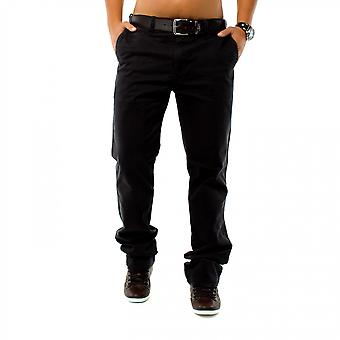 menn&s elegante chino jeans bukser løs vanlig passform 5 lomme bomull bukser