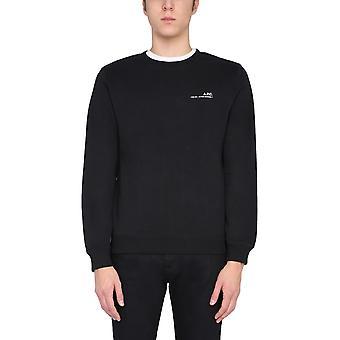 A.p.c. Coeash27608lzz Men's Black Cotton Sweatshirt