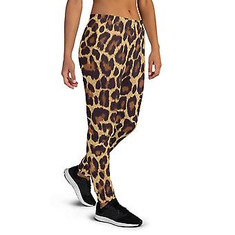 Mulheres''s Leopard Print Joggers