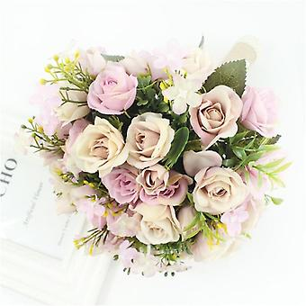Wedding Bouquet Handmade Artificial Flower, Bridal For Wedding Decorations