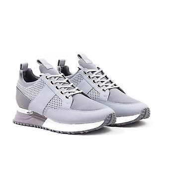 Mallet Southgate Grey Leather Trainers