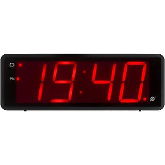 "Kwanwa Battery Operated Digital Alarm Clock with 1.8"" Large Display, Black"