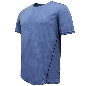 Diadora Sportswear Mens Azzuro T-Shirt Casual Top Blue 173154 60046 EE107