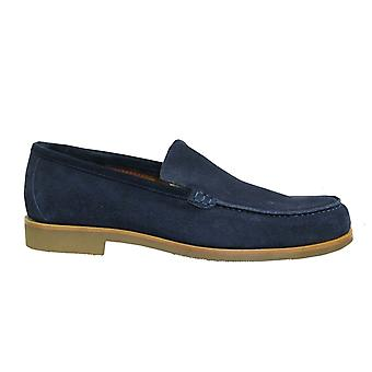 Hackett London Ante Navy Soft Leather Slip On Mens Loafers Shoes HMS20642 595