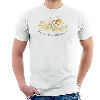Holly Hobbie ta tid att lukta på blommorna Män & apos, s T-shirt