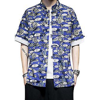 YANGFAN Men's Printed Short Sleeve Shirt