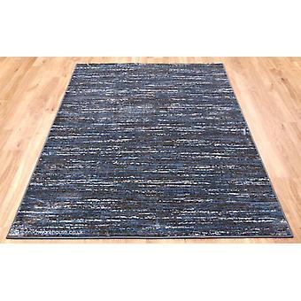 Strates rayures bleu tapis brun