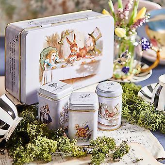 Alice au pays des merveilles cadeau de sélection d'étain de thé