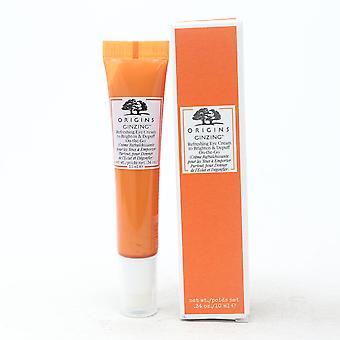 Origins Ginzing Refreshing Eye Cream To Brighten & Depuff 0.34oz  New With Box