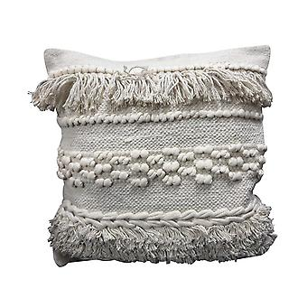 Spura Home Middle Design Gray Moroccan Style Pillows for Living Room 18x18