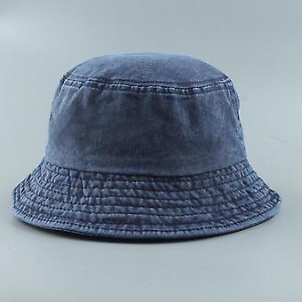 Új összecsukható halász kalap, mosott farmer vödör sapkák