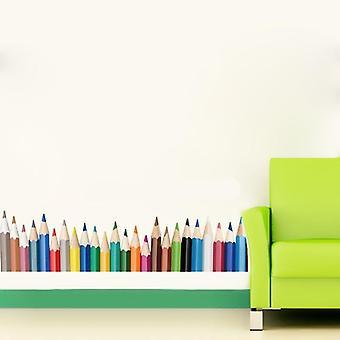 Modern Colorful Color Pencil Baseboard Pattern Wall Sticker (multi)