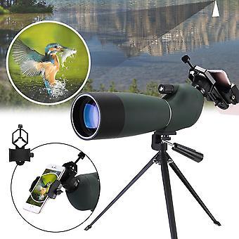Xmund XD-TE1 25-75x70 Zoom Monokular HD BAK4 Optische Vogelbeobachtung Teleskop +Stativ + Telefon Ho