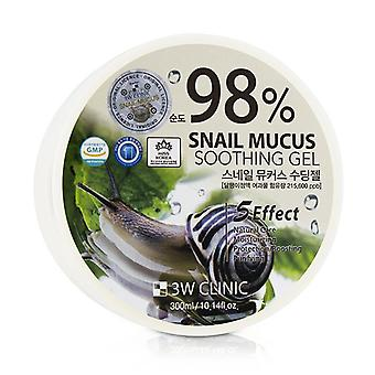 3W Clinic 98% Snail Mucus Soothing Gel 300ml/10.14oz
