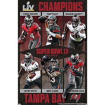 Cartel de Tom Brady NFL Tampa Bay Buccaneers, Super Bowl LV 86.4 x 56.8 cm