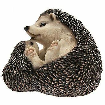 Garden Pals Hedgehog and Baby Figurine Ornament