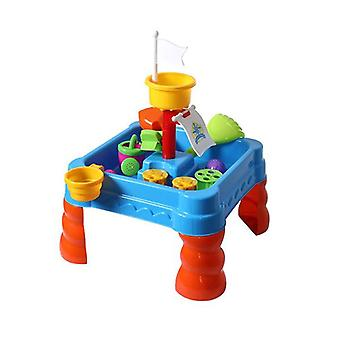 21Pc Kids Sand Water Activity Play Table Outdoor Toys Set