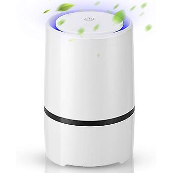 EXTSUD Portable Air Purifier for Home with True HEPA Active Carbon Filter and LED Light, Desktop USB