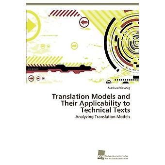 Translation Models and Their Applicability to Technical Texts by Prie