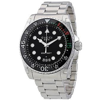 Gucci Dive XL Black Dial Stainless Steel Men's Watch YA136208