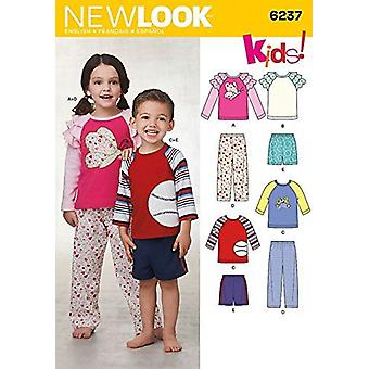 New Look Sewing Pattern 6237 Girls Boys Casual Tops Pants & Shorts Size 1/2-8
